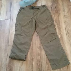REI Wms UPF30+ HIKING roll up CARGO PANTS